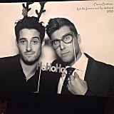 Lance Bass snapped a picture at the Kardashians' Christmas party. Source: Instagram user lancebass