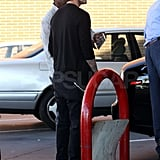 David Beckham Fuels Up as Victoria Spends Time Across the Pond