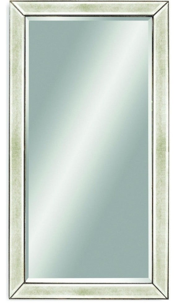 Madeline: Beaded Leaner Mirror by Elite Fixtures