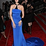 Katy marked her first public appearance at the 2009 Met Gala in Tommy Hilfiger.