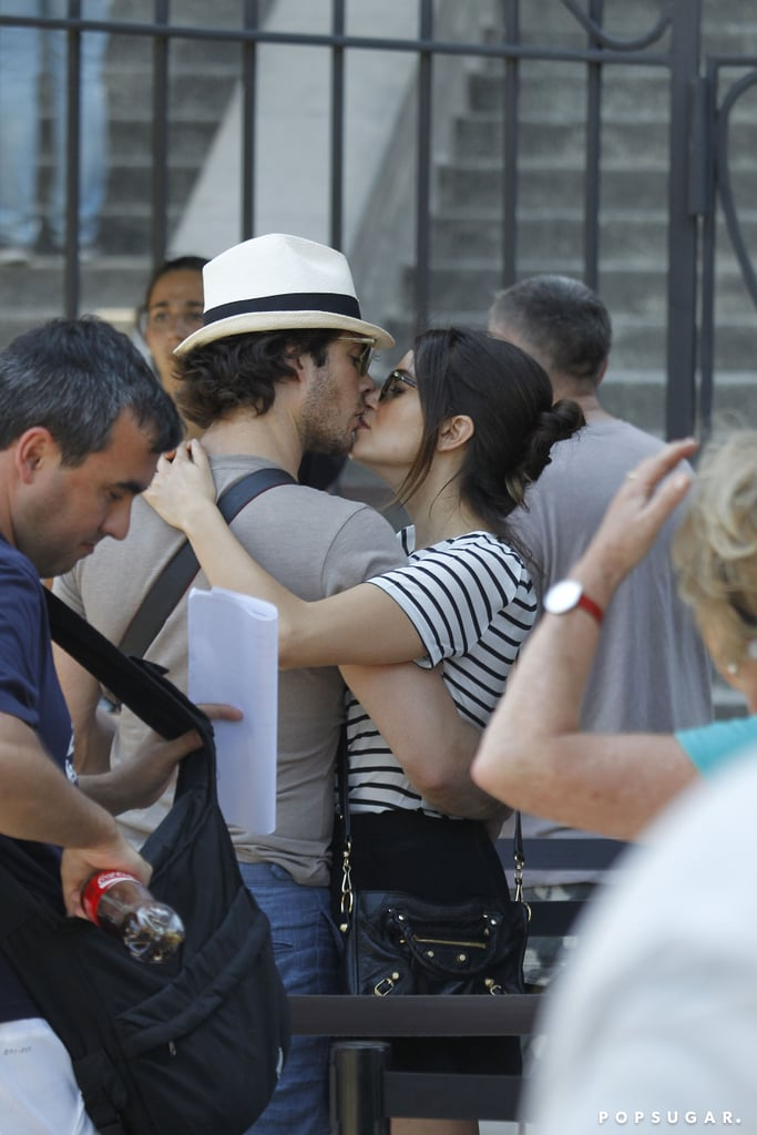 Ian Somerhalder and Nikki Reed were spotted in Miami on Thursday, where they probably stopped traffic with their supersteamy kiss. The two lovebirds, who just got married at the end of April, were spotted on a crowded stairway in the city, where they took time to snap a selfie along with their smooch. Ian and Nikki have been going nonstop since their nuptials; they honeymooned in Mexico and stopped in Brazil for a Vampire Diaries double date, then swept through Cannes before getting all loved up in Paris. Keep reading to see the photos from their day, and join us in wondering where they'll go next.