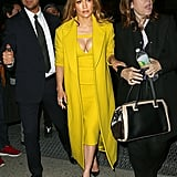 Wearing a Mustard Yellow Dress With a Matching Coat