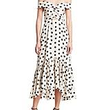 Johanna Ortiz Off-Shoulder Polka Dot Print Midi Dress