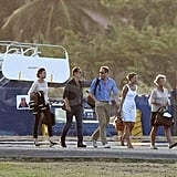 Pippa Middleton, James Middleton, Kate Middleton, and Prince William ended a vacation.