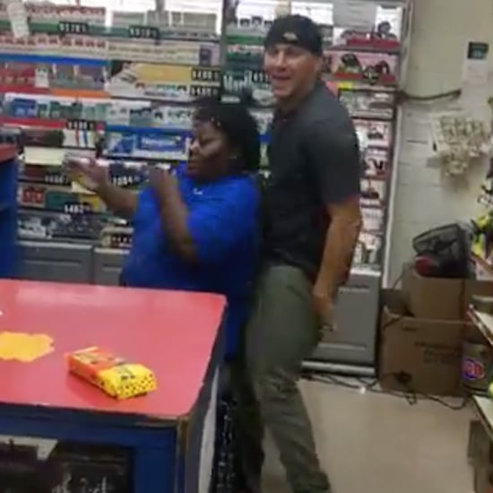 Channing Tatum Dancing at a Petrol Station Video