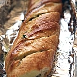 When making garlic bread, keep the loaf intact and wrapped in foil.