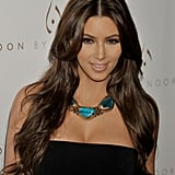 Kim Kardashian With Chocolate Brown Hair