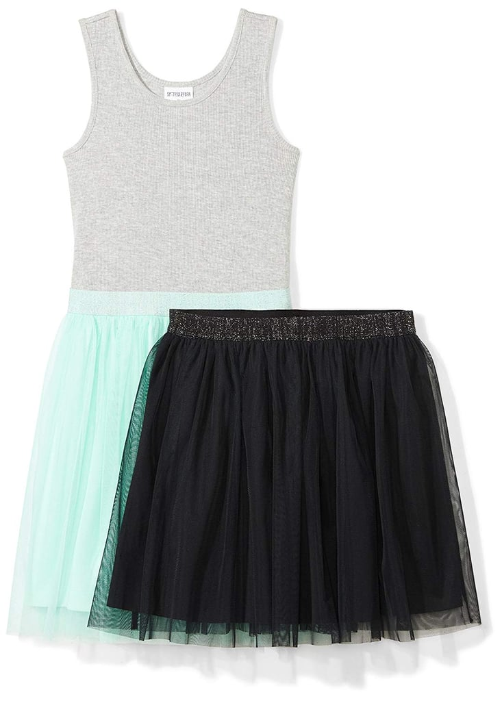 Spotted Zebra Girls' Little Tutu Tank Dress and Skirt Set