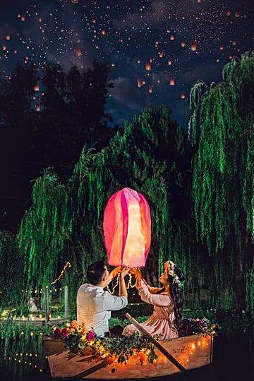 Disney's Tangled-Inspired Engagement Shoot
