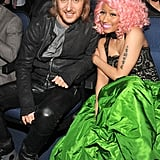 Nicki Minaj and DJ David Guetta, who opened up the show together, sat next to one another.