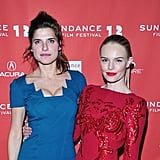 Kate Bosworth and Lake Bell wrapped their arms around each other at the Black Rock premiere.