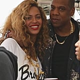 Jay Z had his arm around Beyoncé at the Made in America Festival in September 2012.