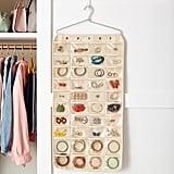 80-Pocket Canvas Hanging Jewelry Organizer