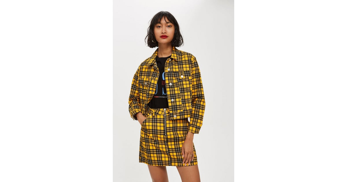 21c80e5373 Yellow Check Denim Jacket and Skirt   23 Years Later, Cher Horowitz Is  Fashion's Cool Girl Once Again   POPSUGAR Fashion Photo 31