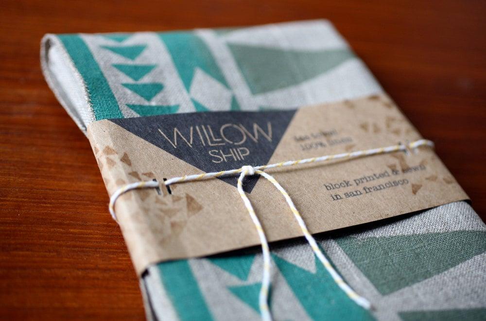 The Blockprint Linen Tea Towel ($20) was inspired by California coastal and desert living and Scandinavian minimalism.