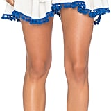 Misa Los Angeles Cati Ruffle Pom Pom Skirt ($180)