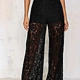 Nasty Gal Factory Sneak Peek Lace Pants ($48)