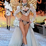 Candice Swanepoel on the runway at the 2011 Victoria's Secret Fashion Show.