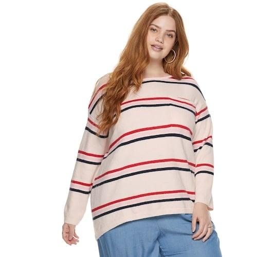 POPSUGAR Plus Size Pocket Pullover Sweater