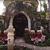 Kris adorned the entryway of her home with life-size nutcrackers in 2016.