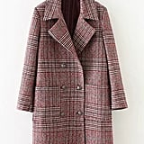 Shein Check Coat