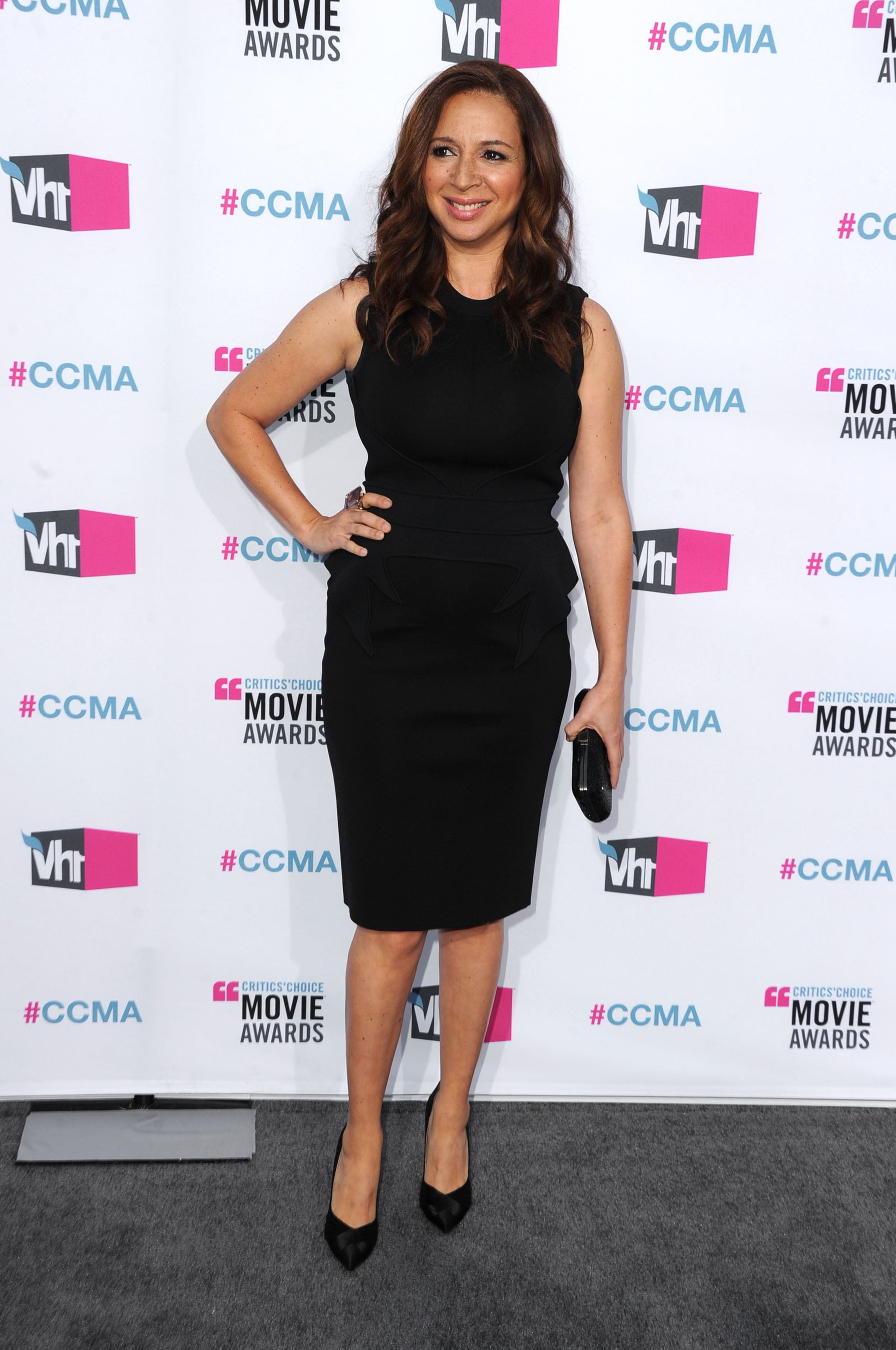 Maya Rudolph on the red carpet at the 2012 Critcs' Choice Movie Awards.