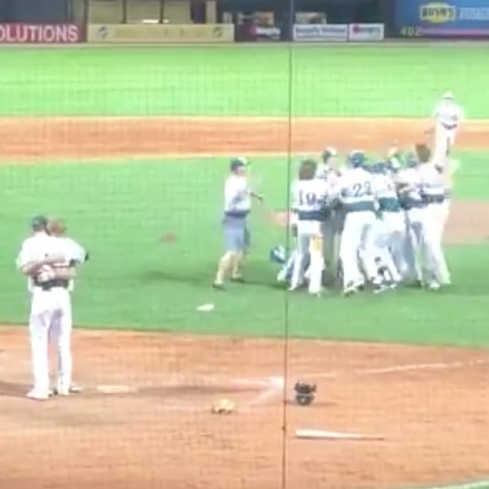 Pitcher Hugs Friend After Striking Him Out in Championship