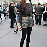 This styler amped up her look with a taste of Fall trends; from leopard print to leather, she mixes it all like a pro.