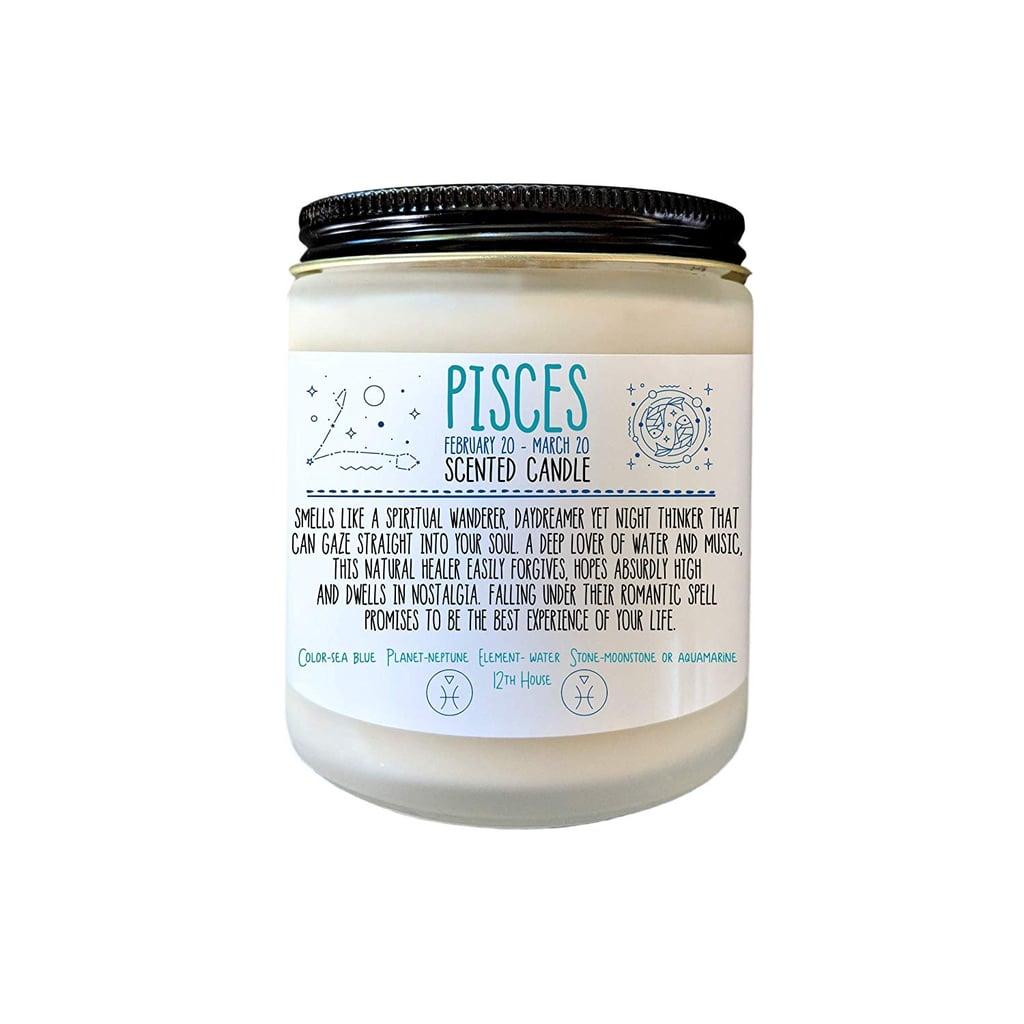 Pisces Zodiac Candle