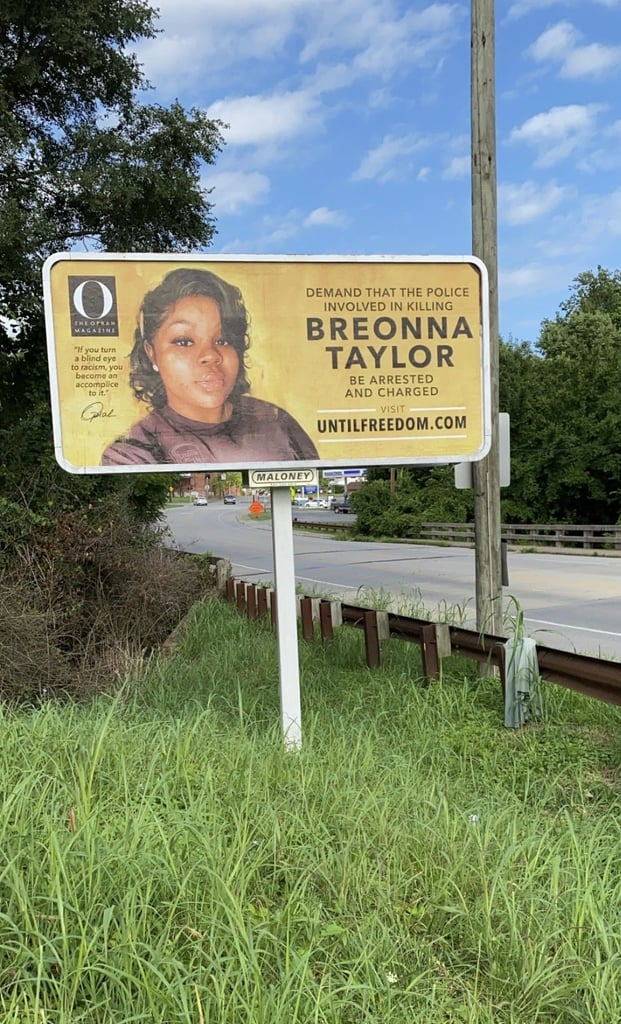 O, The Oprah Magazine's Billboards For Breonna Taylor