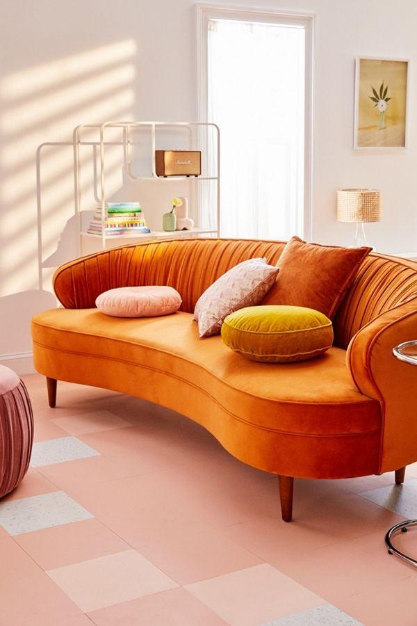 Camila Velvet Sofa
