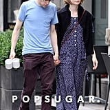 Jesse Eisenberg and Mia Wasikowska held hands for a stroll in Toronto.