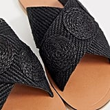 Asos Design Farid Cross-Strap Weave Sliders