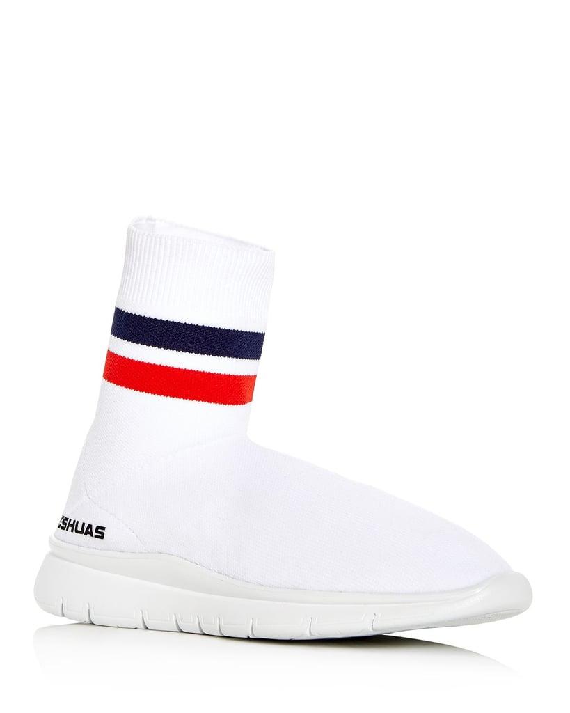 Joshua Sanders Jump Stretch Knit High Top Sneakers