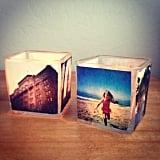 DIY Photo Votive Candles