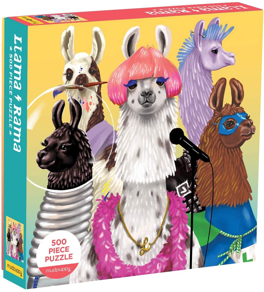 Mudpuppy Llama Rama 500-Piece Family Jigsaw Puzzle
