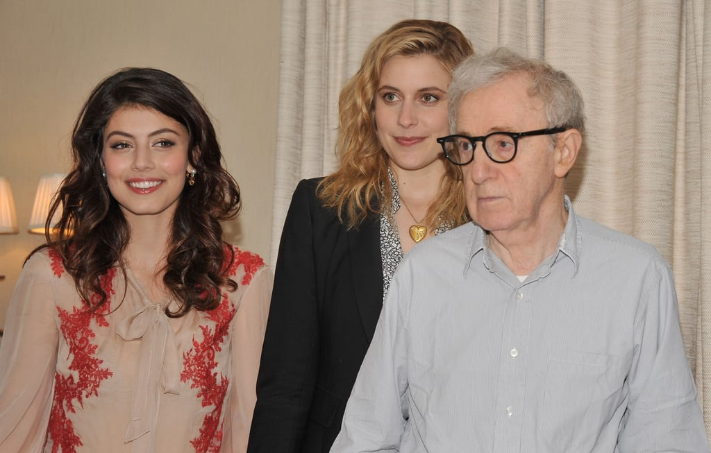 Alessandra Mastronardi, Greta Gerwig, and Woody Allen were in NYC.