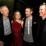 Clint Eastwood, Justin Timberlake, Amy Adams, and Robert Lorenz linked up at the Trouble With the Curve premiere after-party.