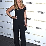 In August 2015, Jennifer wore a chic Roland Mouret jumpsuit for the premiere of She's Funny That Way.