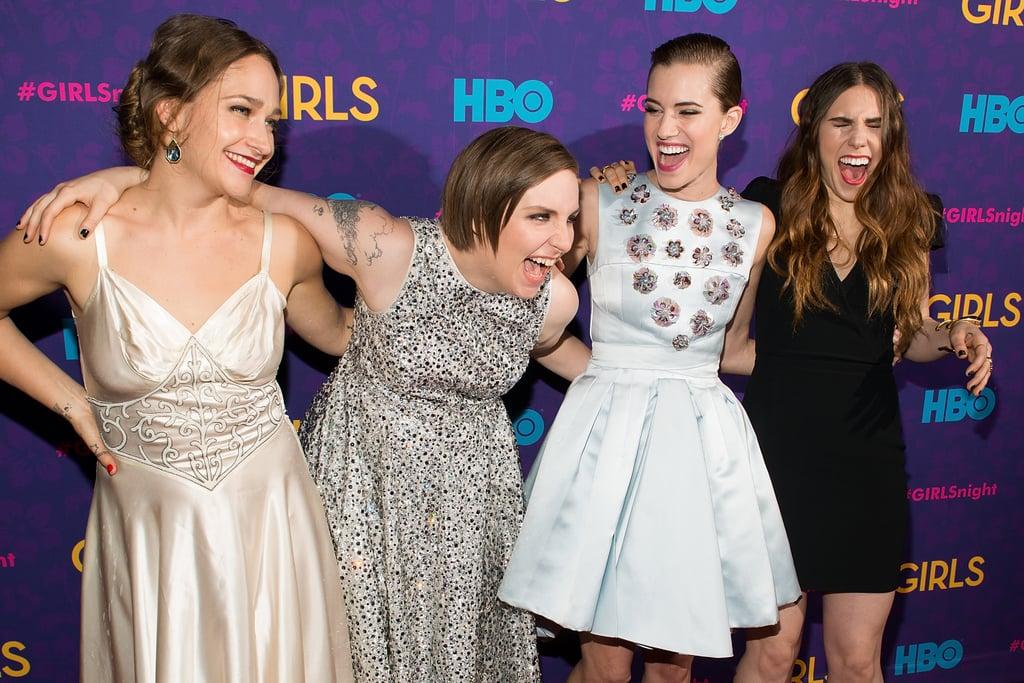 The girls got goofy.