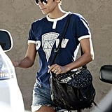 Halle Berry Wears Short Shorts For a Dentist Trip With Hot Olivier