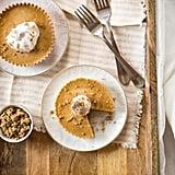 Mini Pumpkin Pie Tarts With Sunflower Cookie Crust