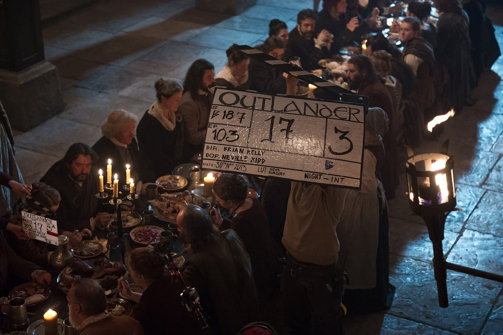 Behind the scenes of a feast scene. Courtesy of Starz