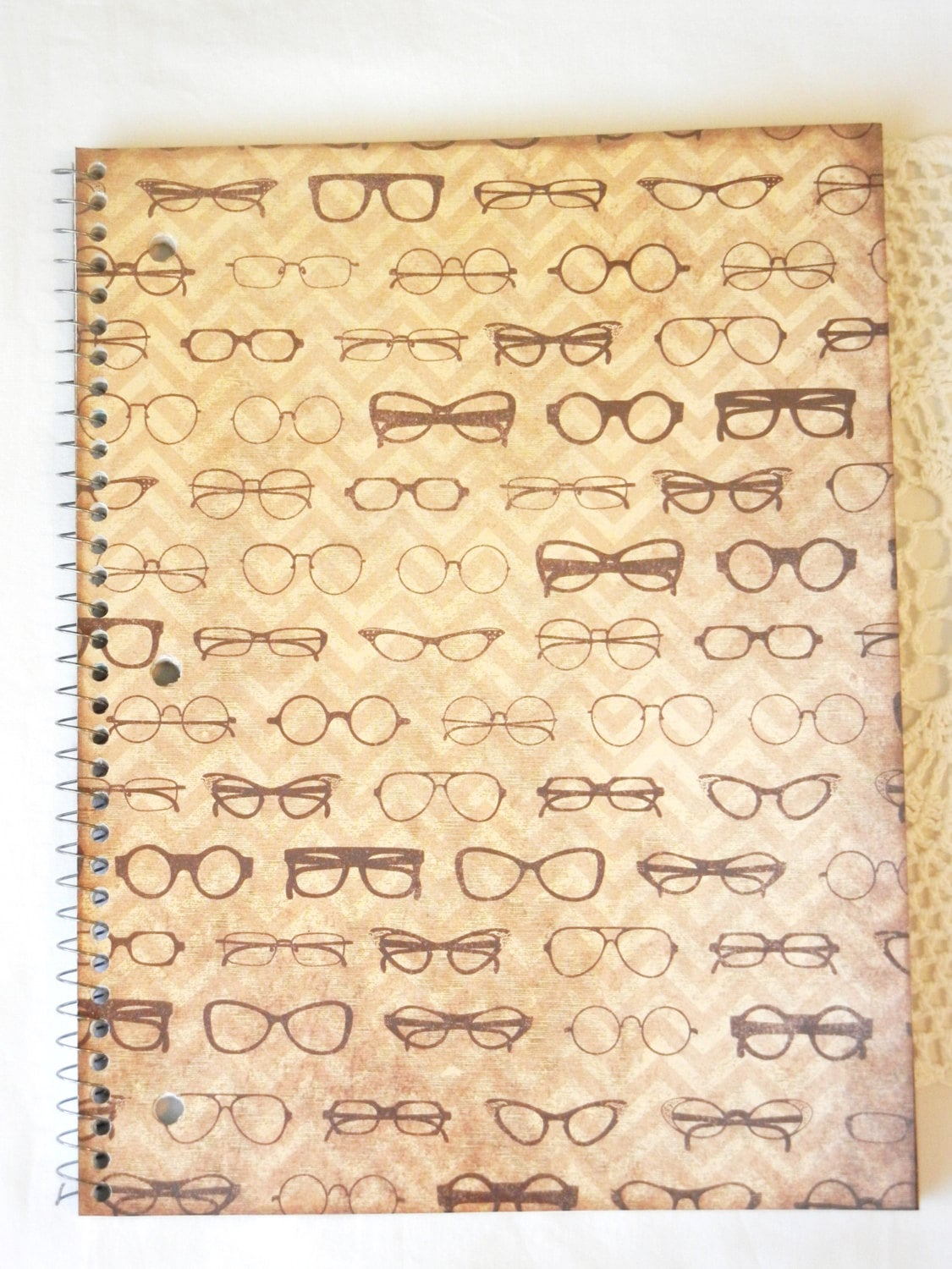 Hipster Glasses Notebook