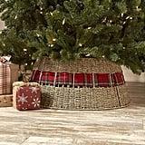 The Lakeside Collection Rattan Christmas Tree Collar