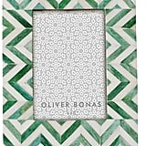 Oliver Bonas Astrid Chevron Green Photo Frame