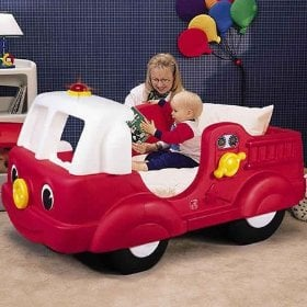 Fire Engine Toddler Bed ($315)