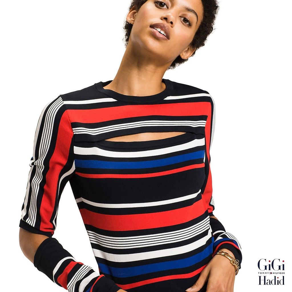 e96473c90f322a Gigi Hadid Striped Sweater ( 130)