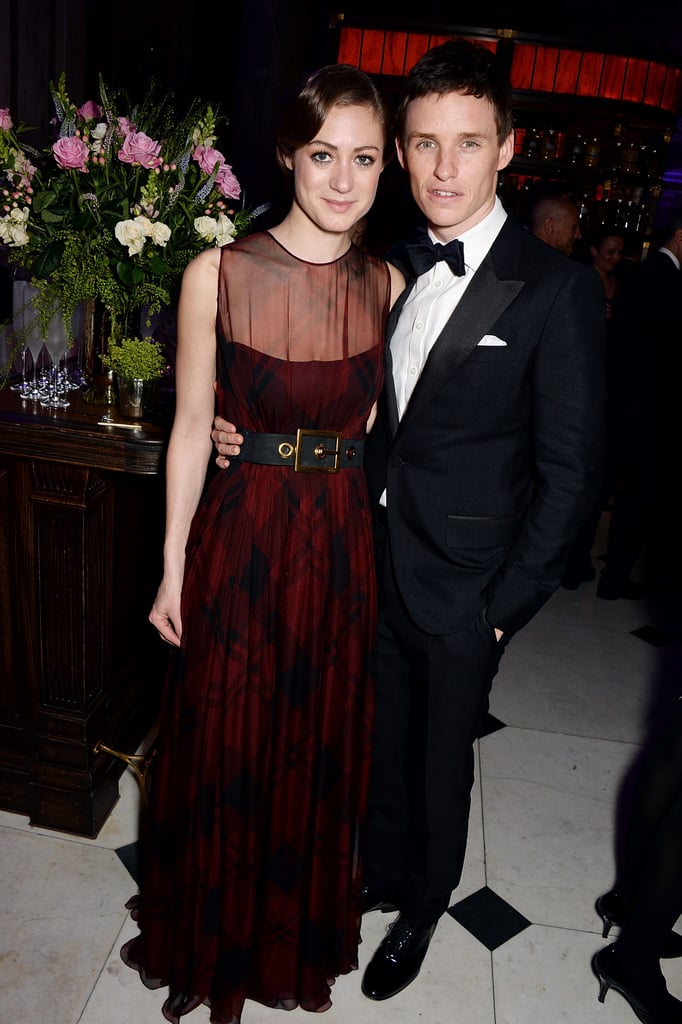 At the BAFTA Awards, Eddie Redmayne wrapped his arma round girlfriend Hannah Bagshawe.