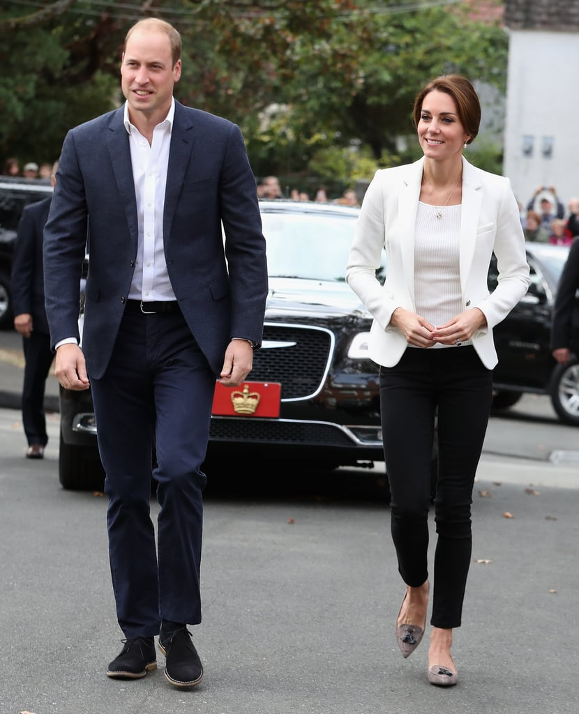 Kate Middleton Wearing Zara Jeans And Blazer In Canada